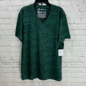 NWT The Rail Green V Neck Short Sleeve T Shirt